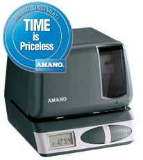 Amano PIX-21 Electronic Time Recorder and Date Stamp